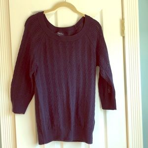 Navy blue knit sweater